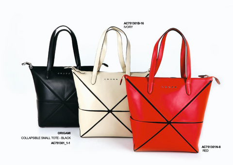 Leather Collapsible Small Tote for Women