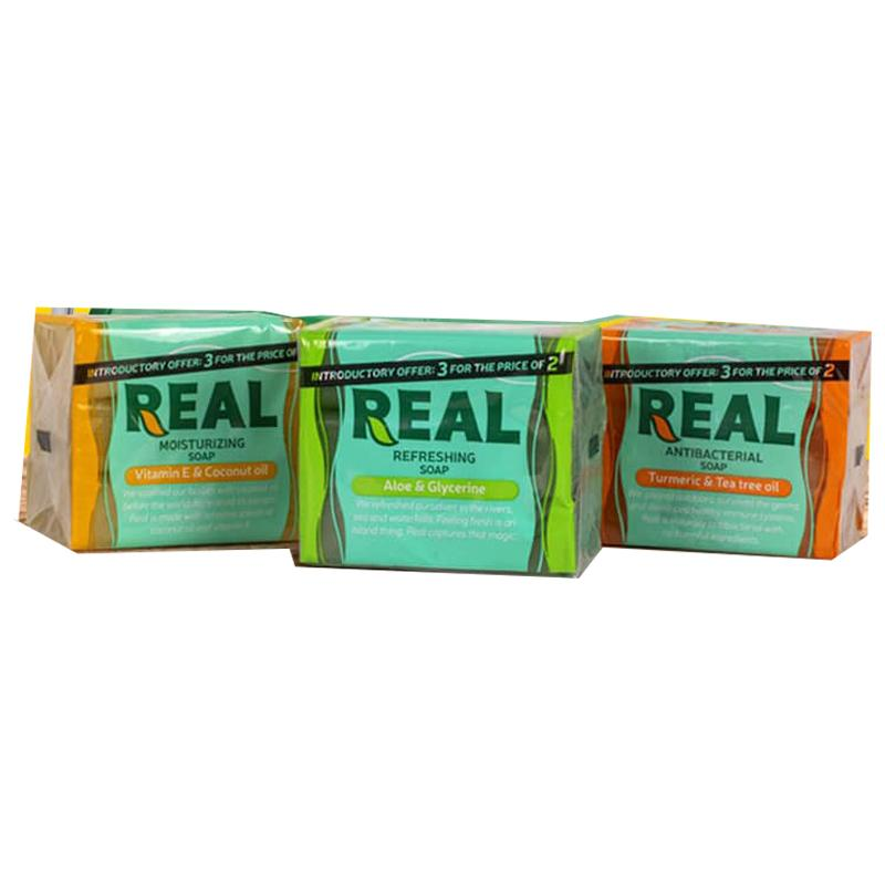 REAL MULTIPACK SOAP - 125G