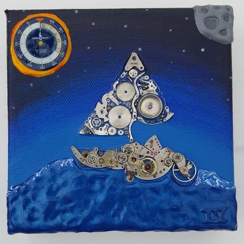 The Original Memosail Boat Watch Parts Painting