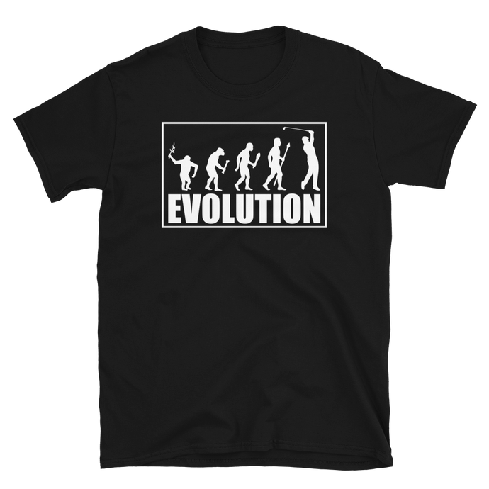 Vick Golf - Evolution Funny Golf T-Shirt - vickgolf.com