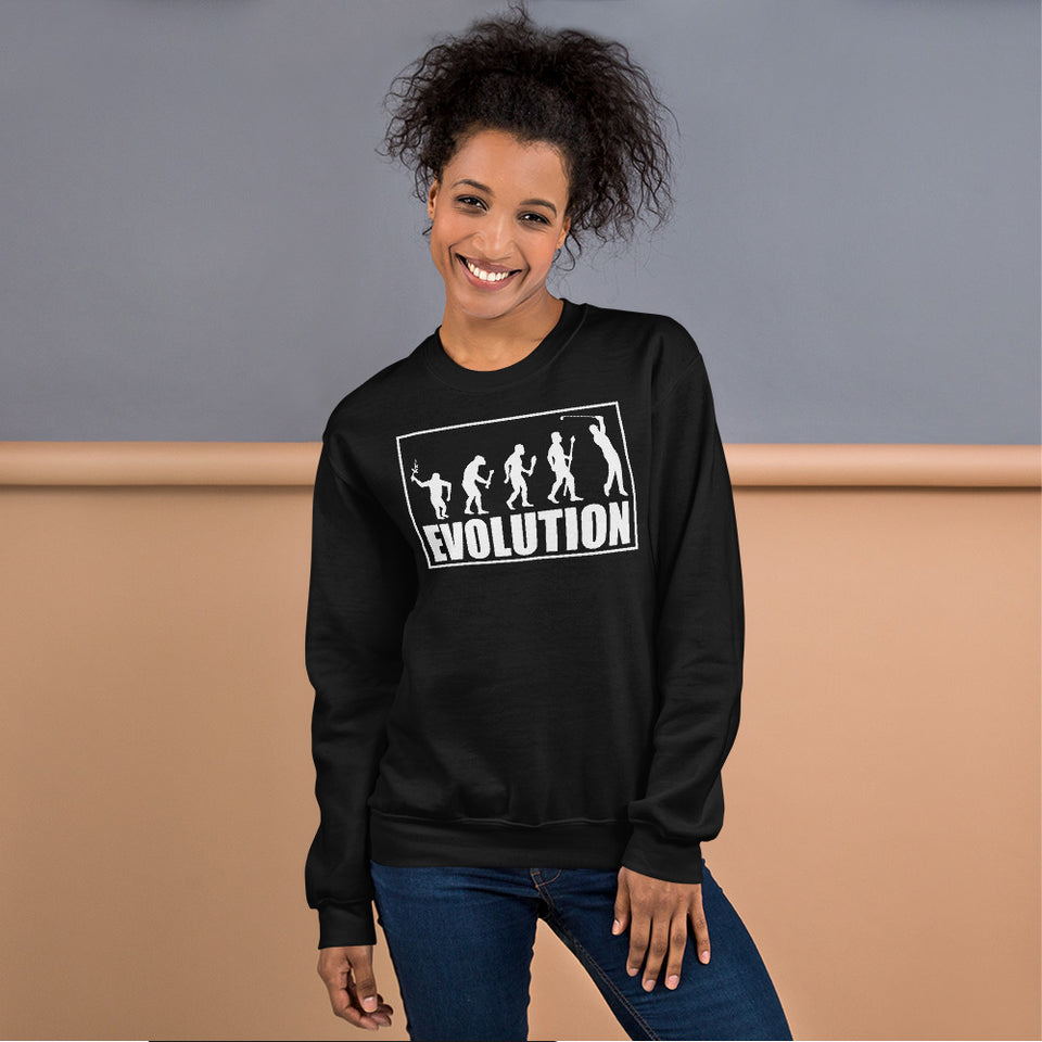 Vick Golf - Evolution Funny Golf Sweatshirt - Heavyweight Crewneck Fleece Sweatshirt | Unisex - vickgolf.com