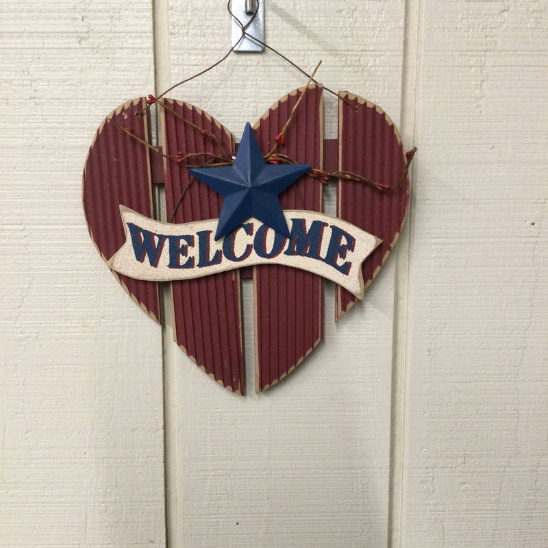 Heart Shaped Welcome Sign Hanger