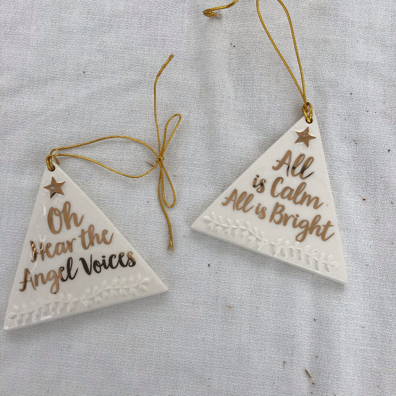 Holiday Gold Holy Message Ornament