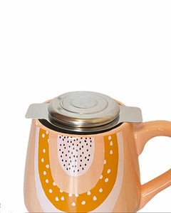 Tea strainer with lid and two handles
