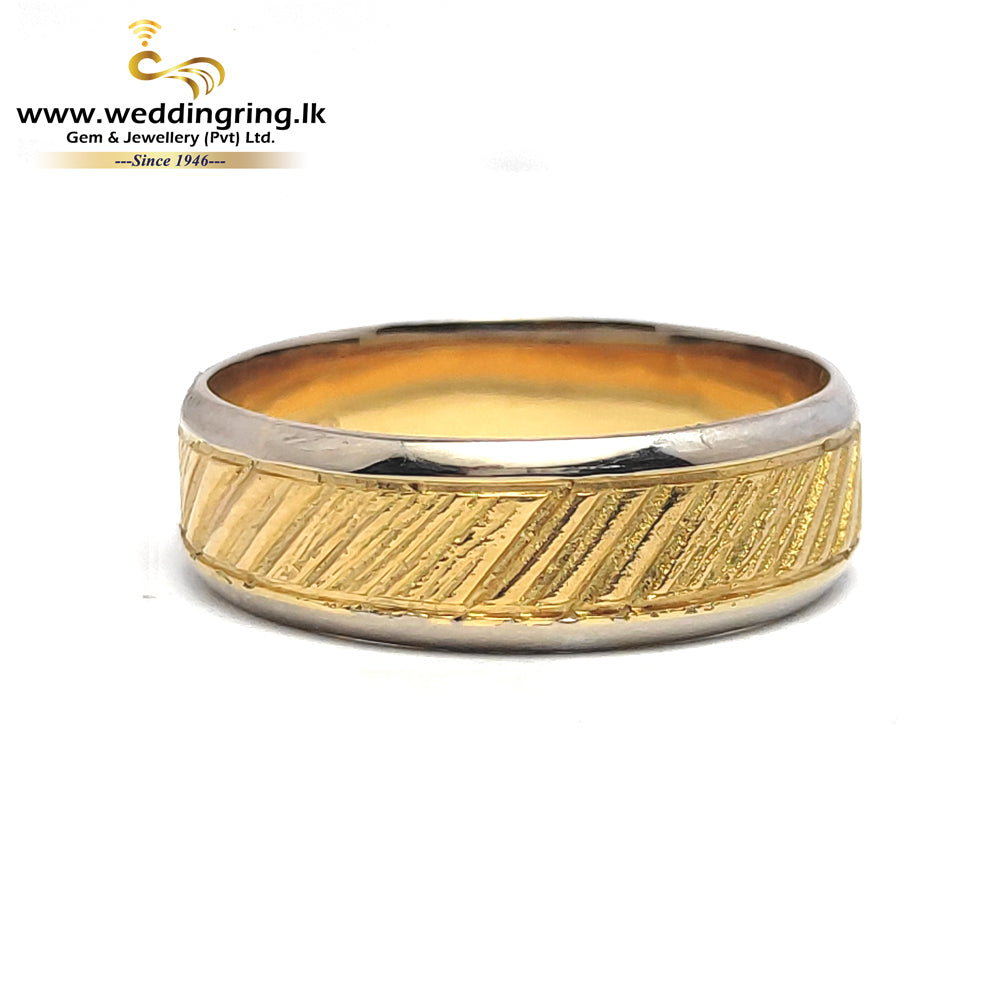 22KT Gold WITH18KT WHITE GOLD RING