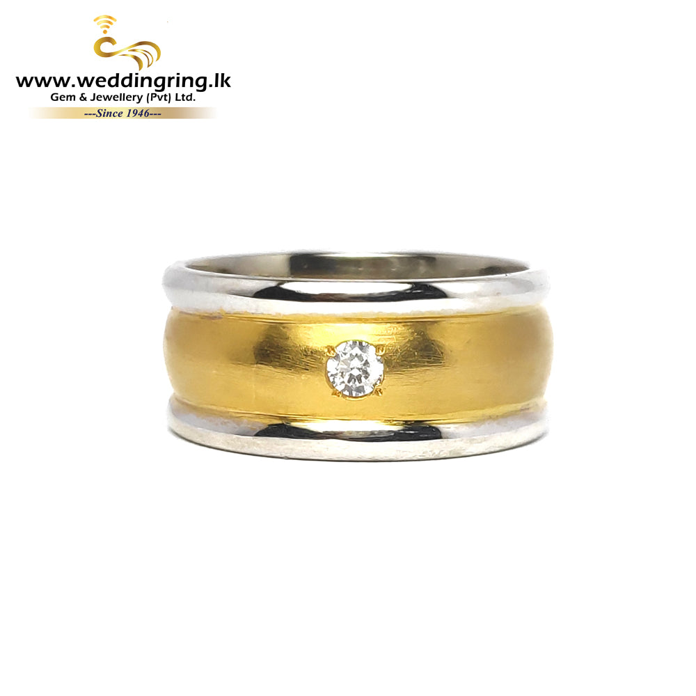 22KT Gold Ring With 18KT White Gold