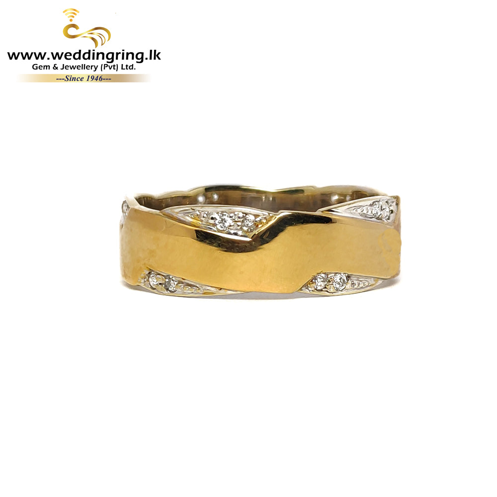 18KT Gold Ring With White Gold