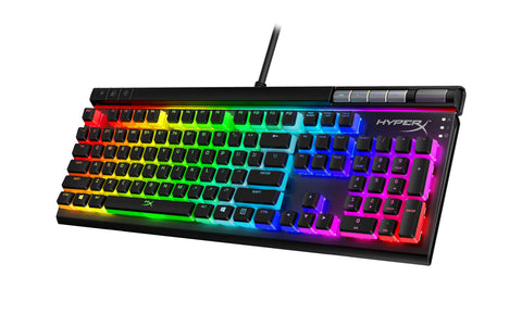 HyperX Alloy Elite 2 – Mechanical Gaming Keyboard, HyperX Red Linear Switch, Software-Controlled Light & Macro Customization, ABS Pudding Keycaps, Media Controls, RGB LED Backlit - ReLite