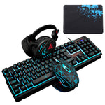Gaming Keyboard and Mouse Combo with Headset, K59 RGB Backlit 3 Colors Keyboard, 6 Button 4DPI USB Wired Gaming Mouse, Lighted Gaming Headset with Microphone Set For Gamer - ReLite