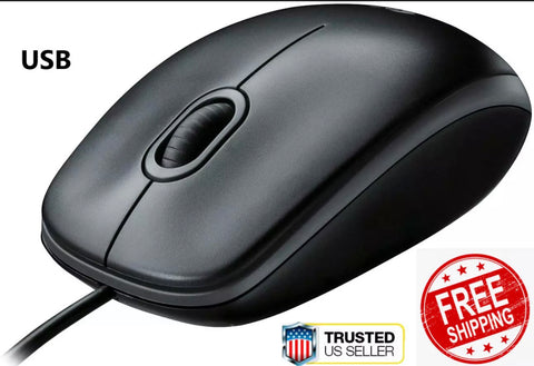 Logitech B100 Corded Mouse Wired USB Mouse