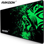 Rakoon Extra Large Mouse Pad Big Computer Gaming Mousepad Anti-slip Natural Rubber with Locking Edge Gaming Mouse Mat