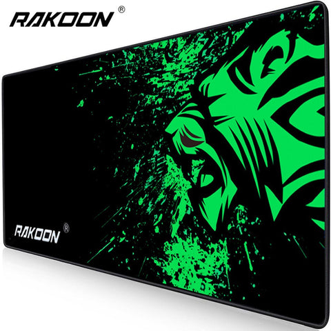 Rakoon Extra Large Mouse Pad Big Computer Gaming Mousepad Anti-slip Natural Rubber with Locking Edge Gaming Mouse Mat - ReLite