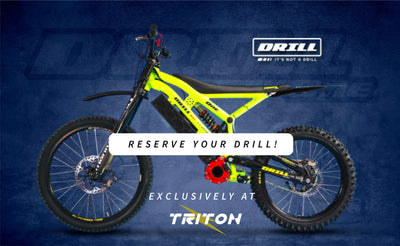 TRITON ELECTRIC BIKES ANNOUNCED AS CZEM's OFFICIAL DRILL ONE RETAILER
