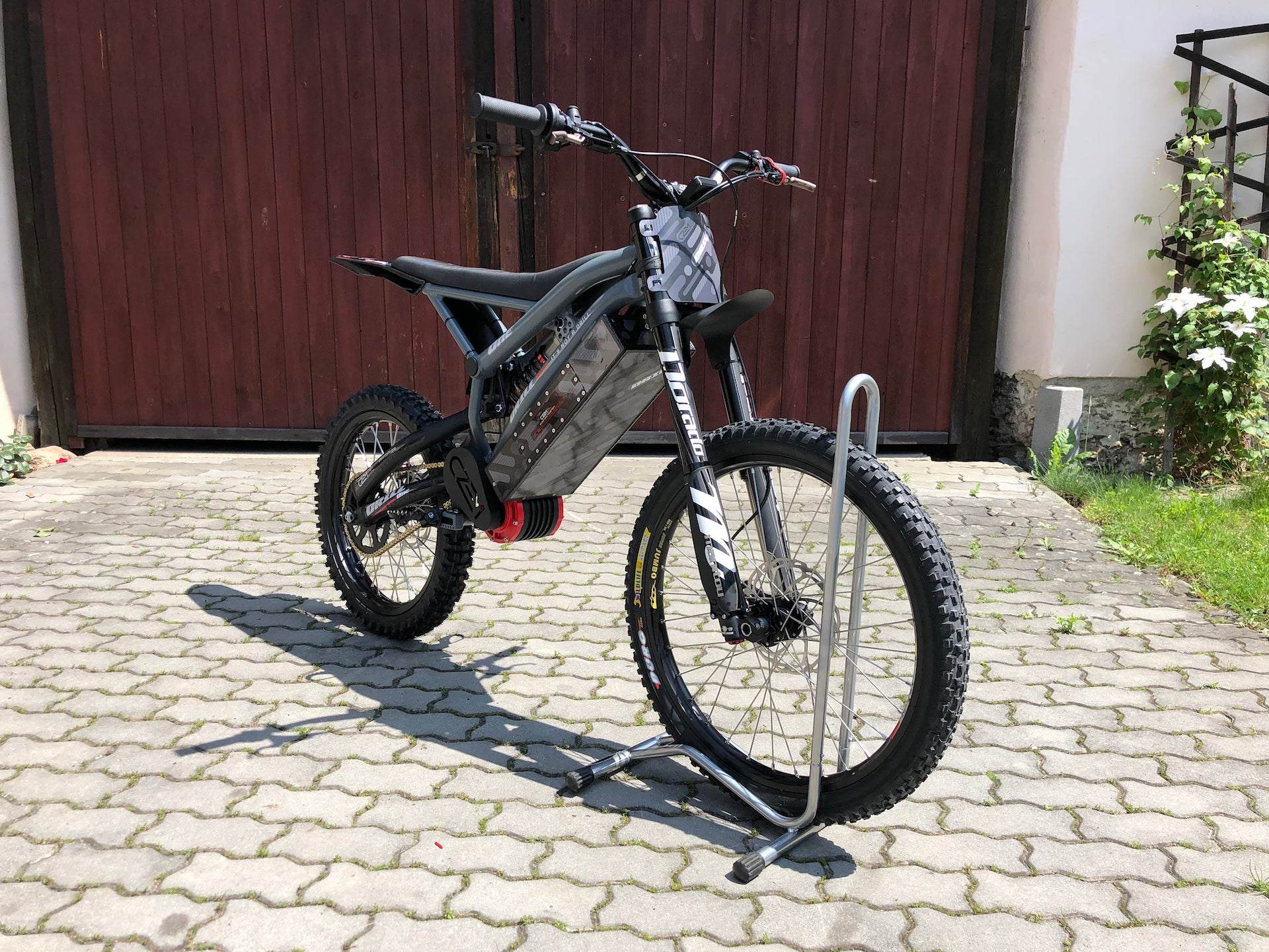 Front View Drill One Electric Dirt Bike by CzEM