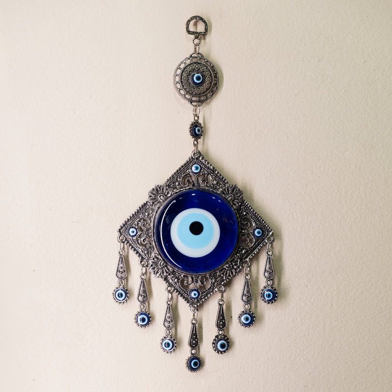 Diamond with Dangles Evil Eye