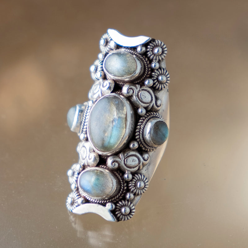 Labradorite Triple Ring