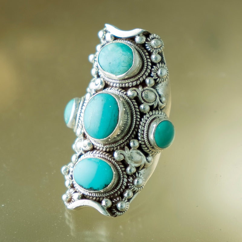 Turquoise Triple Ring