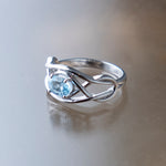 Celtic Blue Topaz Ring