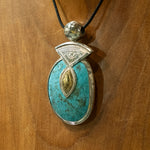 Traditional Tuareg Turquoise Hand Carved Pendant