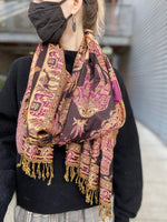 Elephant and Camel Motif Scarf