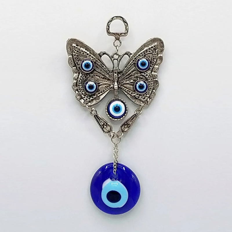 Butterfly with Glass Evil Eye