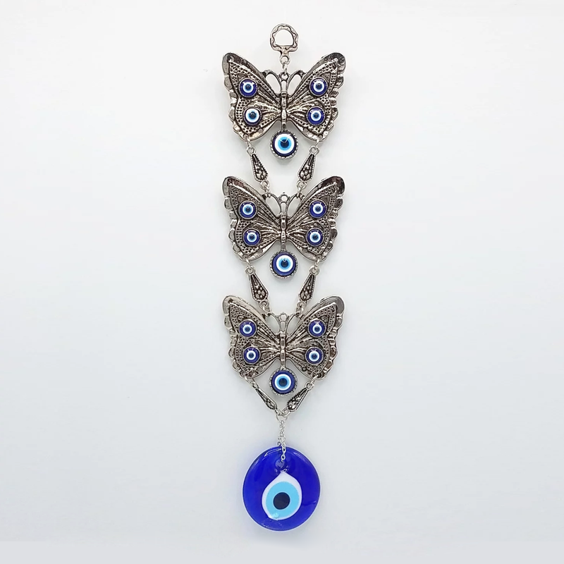 Evil Eye & Butterflies Hanging Piece