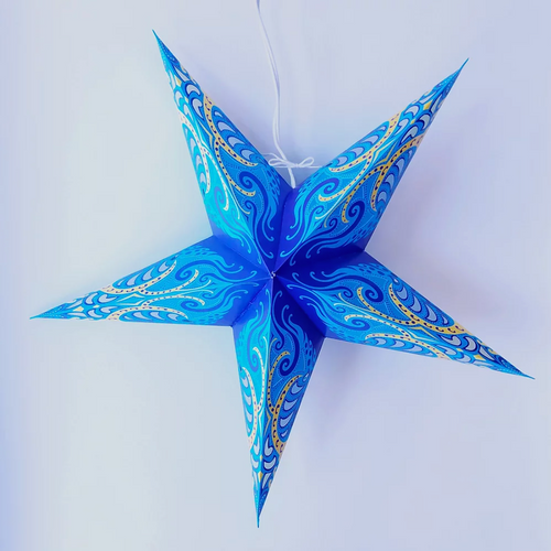 Star Lantern in Blue Splash