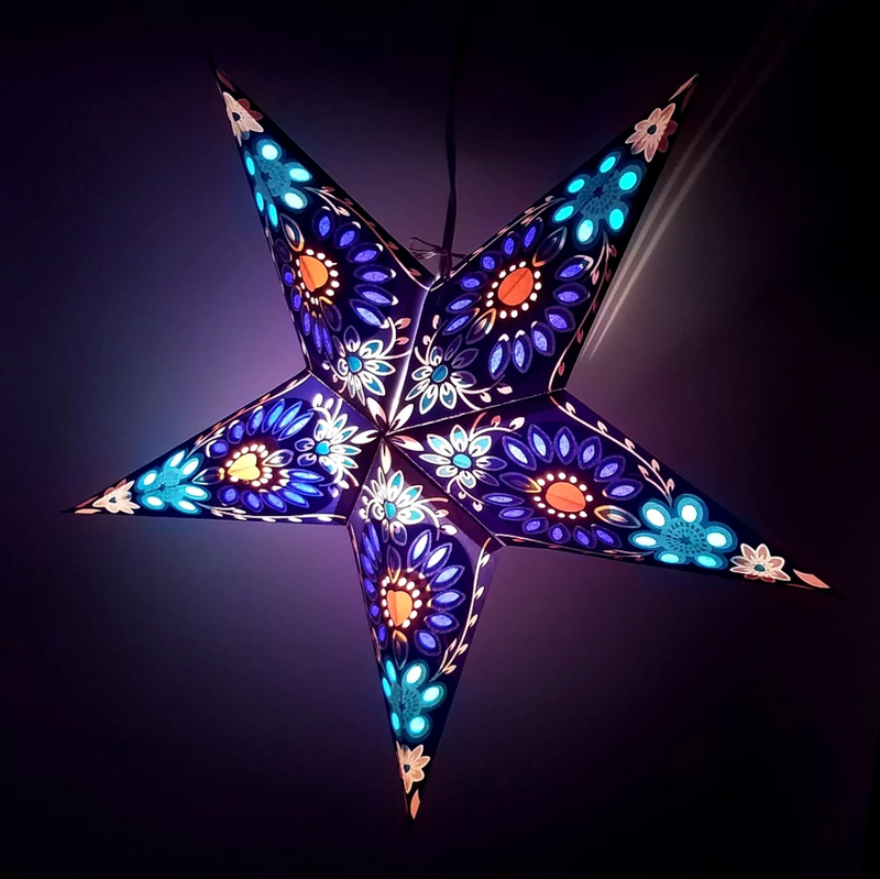 Star Lantern in Purple Sunflower