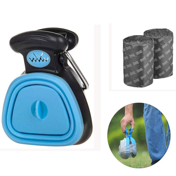 Foldable Pet Waste Waste Picker Cleaning Dog Poop Bag Dispenser Travel Pooper Scooper Scoop Clean Pick Up Animal Pet Supplies