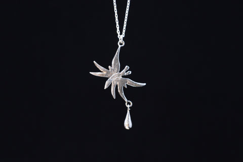 Butterfly Tear / necklace