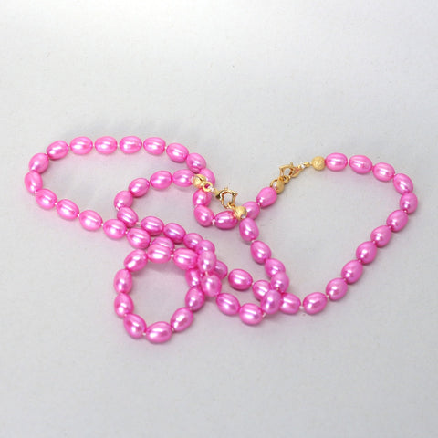 Pink Sunset pearl necklace