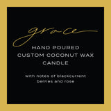 """Grace"" - 16 oz Hand Poured Custom Candle"