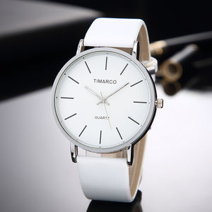 Women's Casual Wristwatch - White Leather Quartz - TiMarco