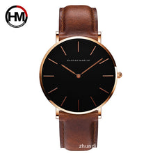 Load image into Gallery viewer, Black Slim Wristwatch - Casual Waterproof Watch - Hannah Martin