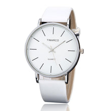 Load image into Gallery viewer, Women's Casual Wristwatch - White Leather Quartz - TiMarco