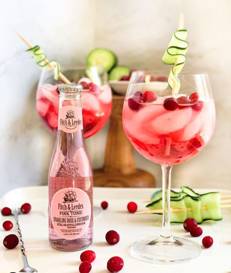 Vodka, Cucumber and Cranberry Spritz