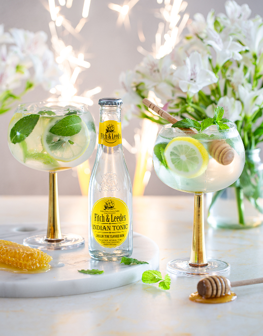 Gin, Honey, Lemon, Mint and Indian Tonic