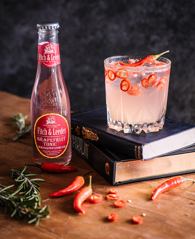 Gin, Chilis and Grapefruit Tonic Cocktail