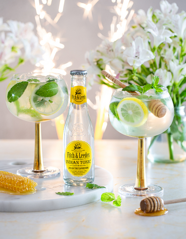 Gin, Honey, Lemon, Mint and Indian Tonic Cocktail Recipe