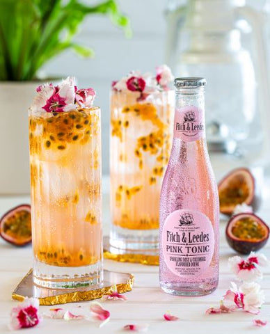 Vodka or Gin Pink Passion Fizz