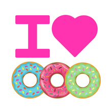 Load image into Gallery viewer, I HEART DONUTS