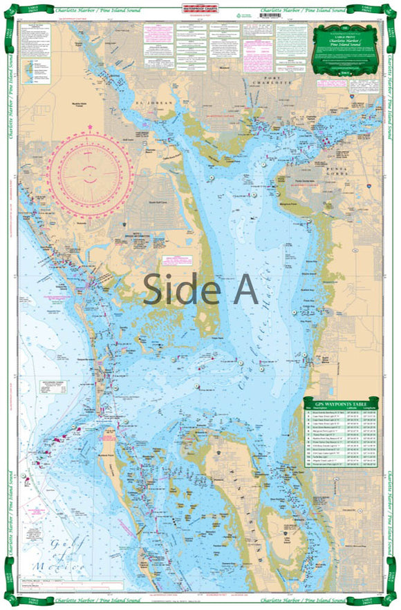 Charlotte Harbor and Pine Island Sound Large Print Navigation Chart 1E | Waterproof Charts