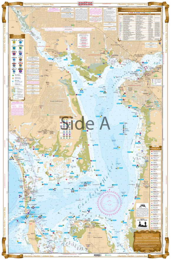 Charlotte Harbor and Lemon Bay Inshore Fishing Chart 1F | Waterproof Charts