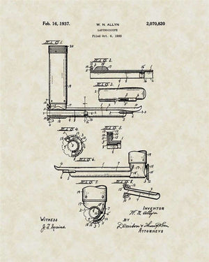 Laryngoscope Patent Art, Allyn, 1937