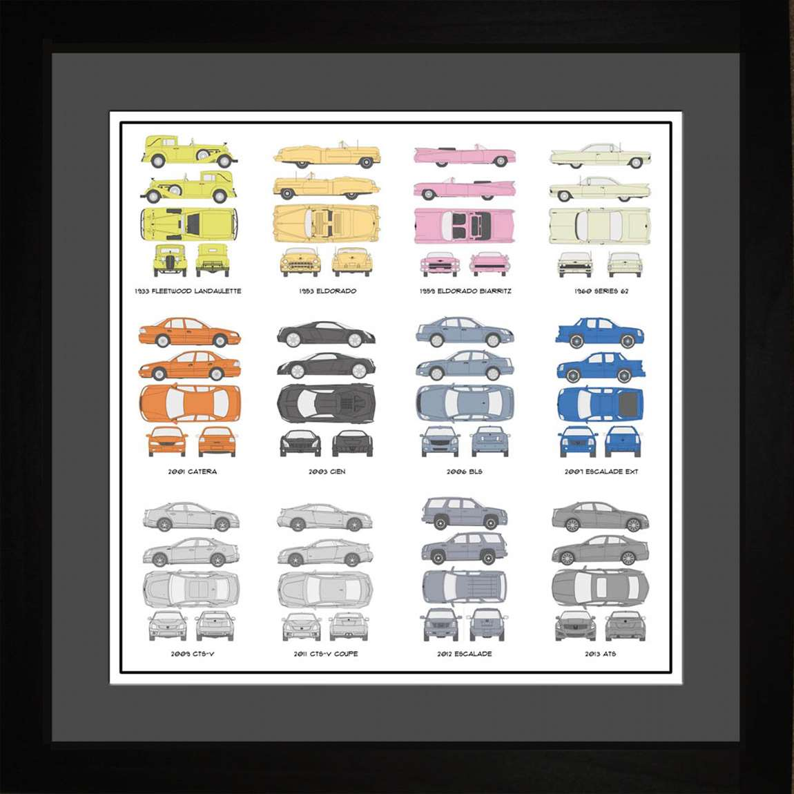 Cadillac Auto Collection, 16x16