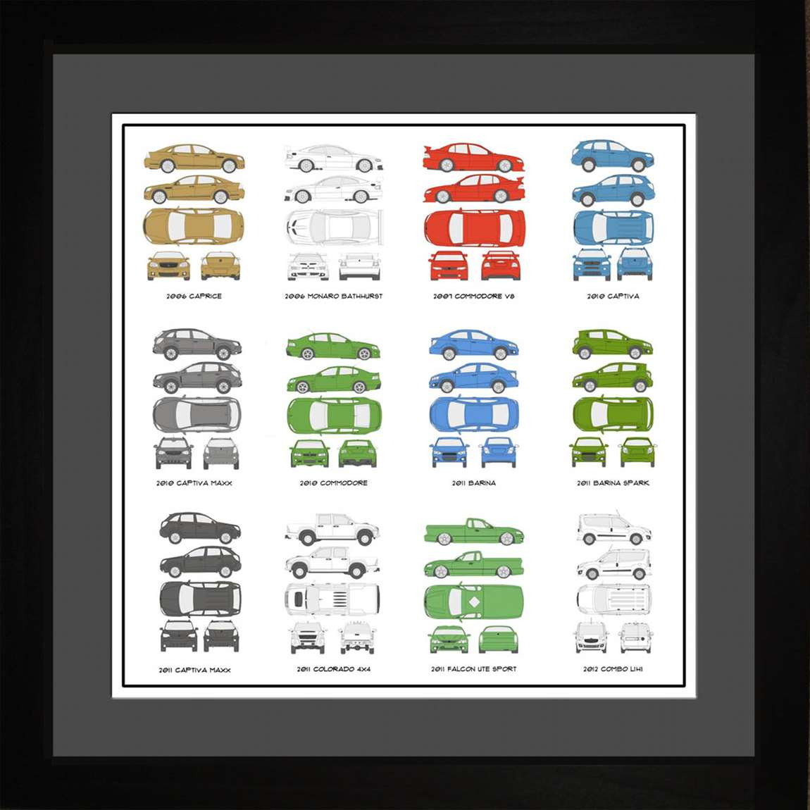 Holden Auto Collection, 16x16