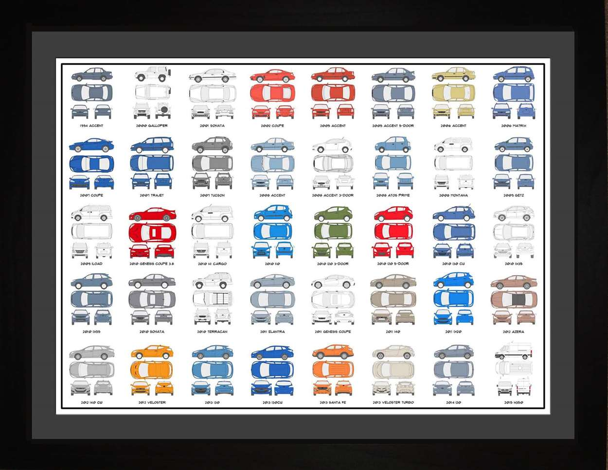 Hyundai Auto Collection, 18x24