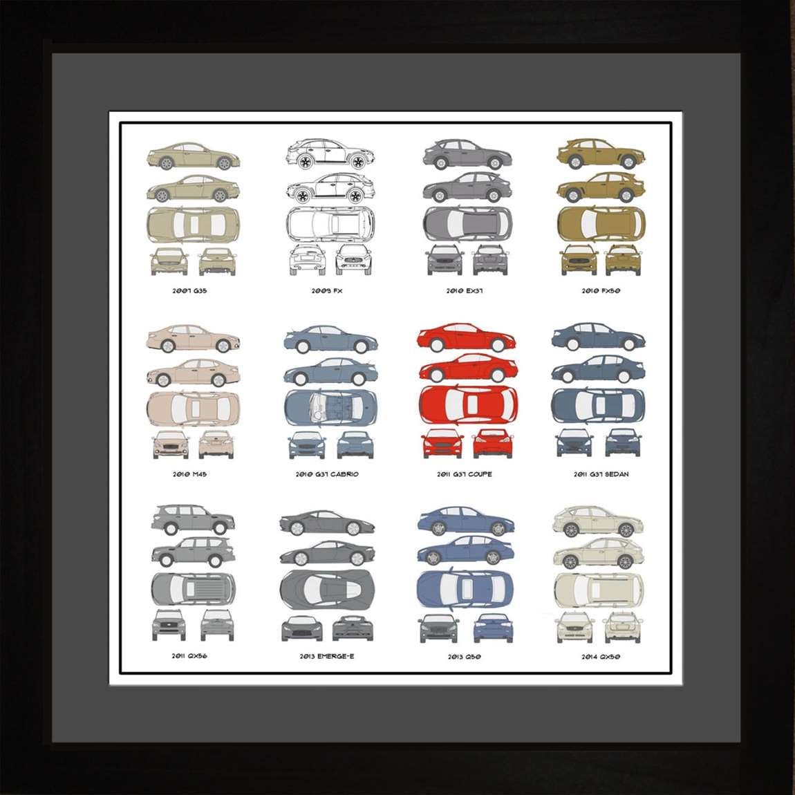 Infiniti Auto Collection, 16x16