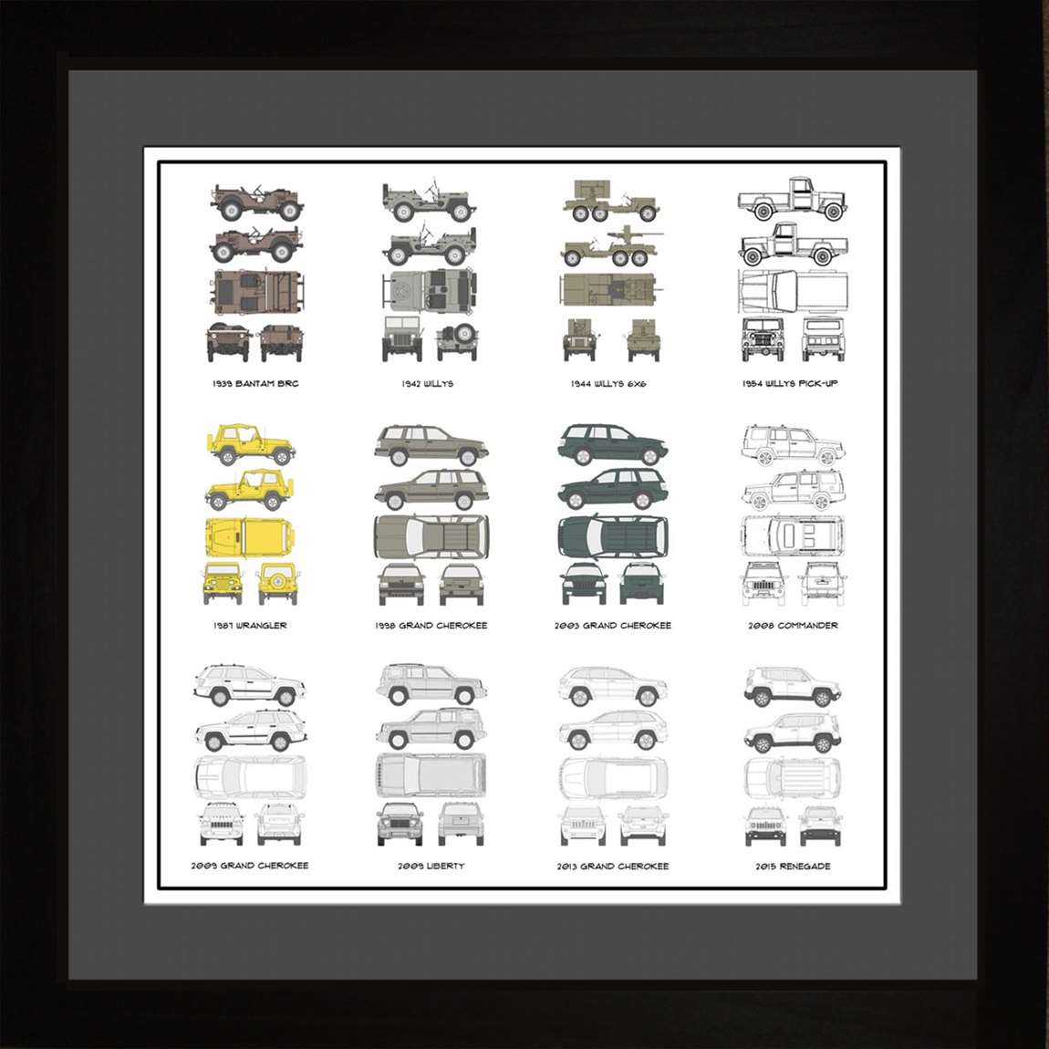 Jeep Auto Collection, 16x16