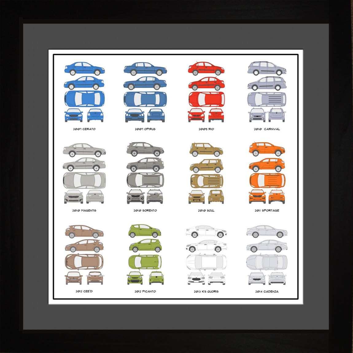 Kia Auto Collection, 16x16
